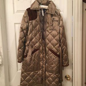 Worn 1x RALPH LAUREN silk, down & suede coat 💕